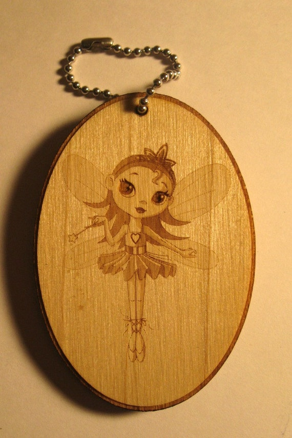 Bag tag- Personalized wooden dance luggage tag