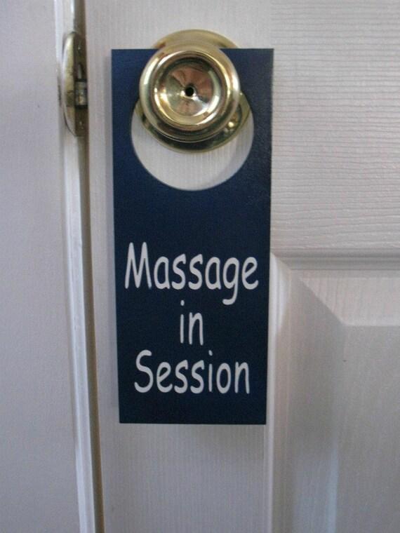 Custom Massage in Session Painted  Wooden Door Knob Hanger Sign for Jan