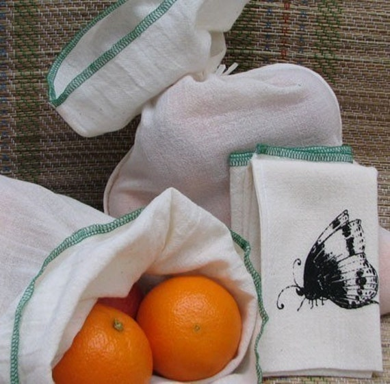 The Butterfly Bag - set of two reusable produce bags