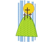 Easter Spring Embroidery Design 4x4 - Calvary's Cross - Jesus Loves Me Collection