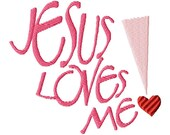 Easter Spring Embroidery Design 4x4 - Hearts - Jesus Loves Me Collection - BWILD