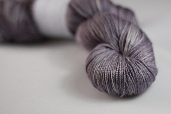 Titus 4ply in Storm - hand dyed superwash merino/silk 4ply sock yarn - UK Seller