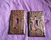 Pair of Glasgow Rose Switchplates