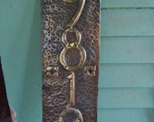 Hurd Rose Craftsman House Number plaque Vertical