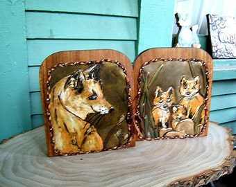 Fox and Kits Bookends
