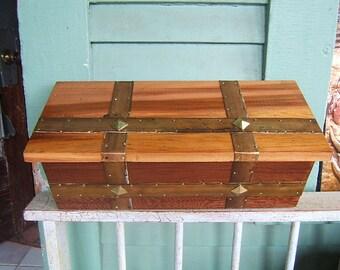 Craftsman Cedar Mailbox with Brass Strips