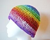 Rainbow Skater Beanie Cap