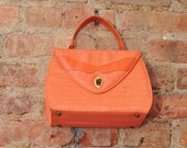 RESERVED  Salmon Colored Woven Handbag