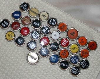 Cash Register Keys, like typewriter keys, supplies,craft, Cash Register Jewelry,