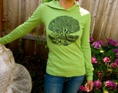 Green Sacred Grove & Tree of Life Double Sided Hoodie Green SMALL