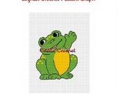 INSTANT DOWNLOAD Chella Crochet Hello Frog Afghan Crochet Pattern Graph Chart .PDF