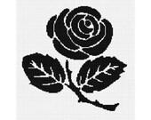 INSTANT DOWNLOAD Chella Crochet Pattern Rose Silhouette Pattern Graph Chart. .PDF