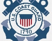 INSTANT DOWNLOAD Chella Crochet United States Coast Guard Crochet Afghan Pattern Graph