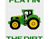 INSTANT DOWNLOAD Chella Crochet Play in the Dirt Tractor Afghan Crochet Pattern Graph