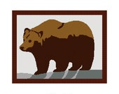 INSTANT DOWNLOAD Chella Crochet Grizzly Brown Bear Easy Afghan Crochet Pattern Graph