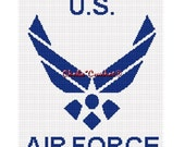 INSTANT DOWNLOAD Chella Crochet United States Air Force Afghan Crochet Pattern Graph Chart .PDF