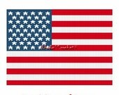 Instant Download Chella Crochet American United States US Flag Afghan Crochet Pattern Graph Chart .PDF