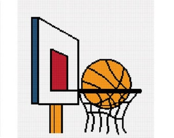 INSTANT DOWNLOAD Chella Crochet Basketball and Hoop Afghan Crochet Pattern Graph