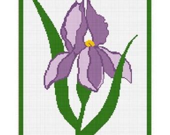 INSTANT DOWNLOAD Chella Crochet Beautiful Iris Flower Afghan Crochet Pattern Graph