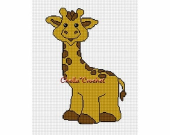 INSTANT DOWNLOAD  Chella Crochet Baby Giraffe So Cute Afghan Crochet Pattern Graph Chart .PDF