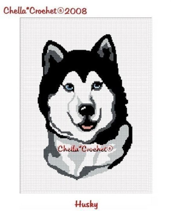 INSTANT DOWNLOAD Chella Crochet Pattern Siberian Husky Dog