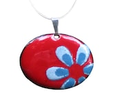 Flower Necklace- Red