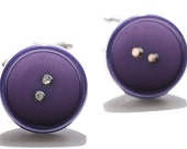 Purple button cuff links