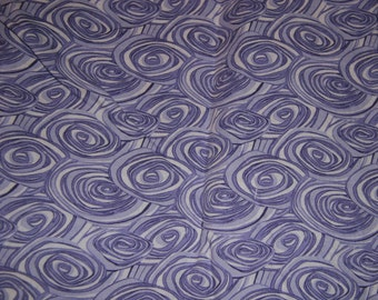 CLOSEOUT Retro Lilac Swirls Spirals Cotton Quilting Fabric 1 yd