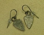 Pewter Shield Earrings (PRICE REDUCED)