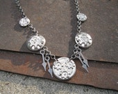 Steampunk Earthenwood Gear Necklace (take 2) (PRICE REDUCED)