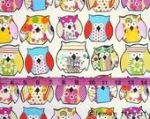 Happy Hoots -- Original Design Fabric