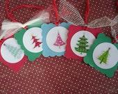 Pretty and Bright Christmas Tree Tags