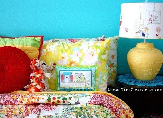 Hoo Hoo, I Love You -- Decorative Owl Pillow