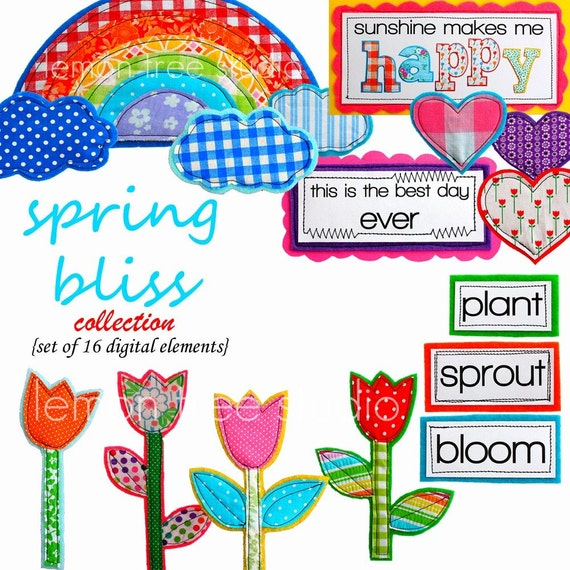Digital Clip Art -- Spring Bliss Collection