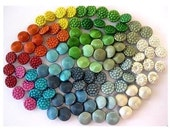 105 Vintage metal buttons, set of 21 kinds, can be use as beads, proper for creating buttons jewelry, 13mm