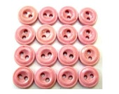 15 Vintage glass buttons, can be use as a bead, pink color, 12mm, proper for button jewelry