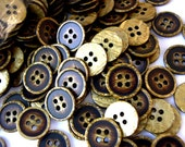 SALE-20 Vintage buttons, plastic buttons,  unique color, 13mm, for button jewelry, sewing, embellishment