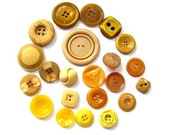 22 Buttons, antique and vintage plastic, assorted shapes and shades, can be use as beads for button jewelry