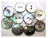 15 Shell buttons SMOKE agoya mother of pearl buttons 13mm