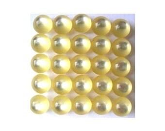15 vintage trim buttons, 6mm, unique for button jewelry