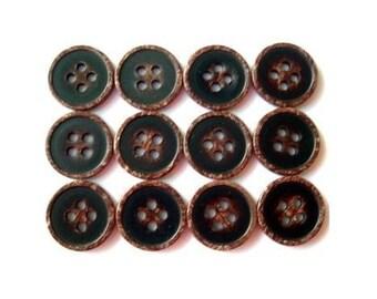 20 Vintage button, plastic buttons,  unique color, 13mm, proper for button jewelry