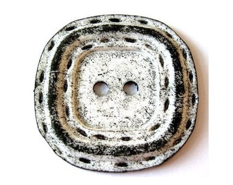 Button, HUGE, sqware with round corners, plastic, new, 65mm