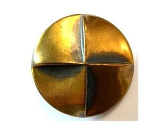 6 Vintage metal buttons, unique, 32mm