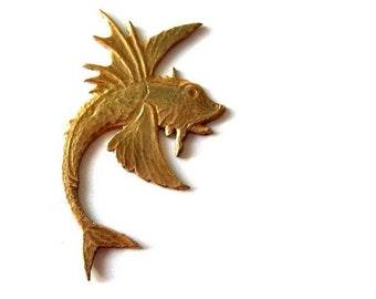Flying fish vintage metal stamping metal findings