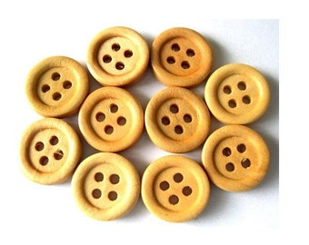 15 Wood buttons 15mm