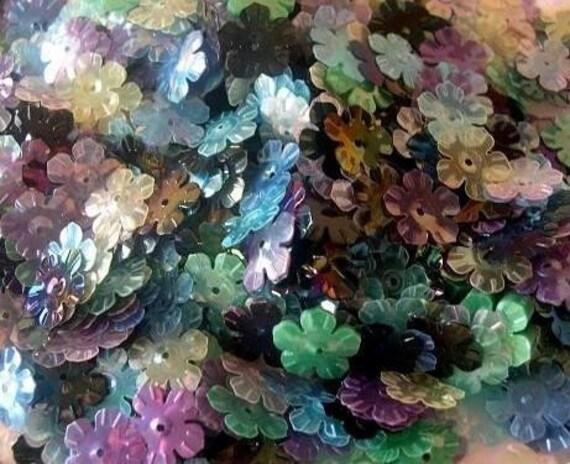 Flower sequins 50gr  vintage 7 colors