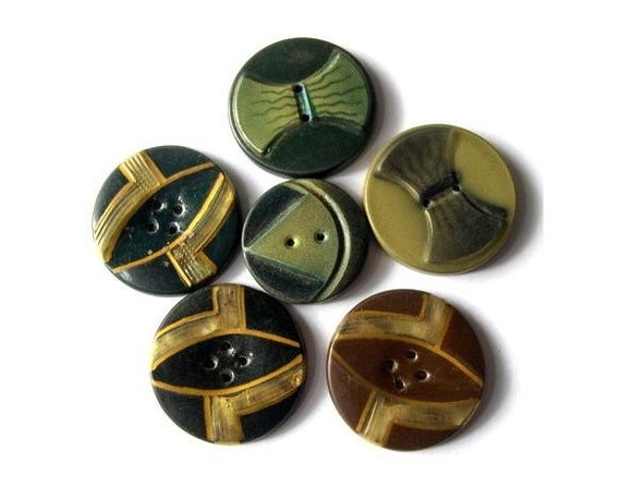 5 Antique buttons, celluloid, beautiful unique buttons, 26.5mm, proper for button jewelry, might be collectible