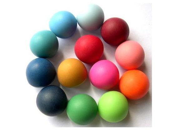 13 Antique vintage plastic buttons, 13 colors, mushroom shape 15mm, 10mm height, UNIQUE