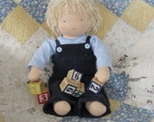 16 Inch Waldorf Boy Doll with Blue Eyes