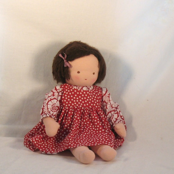 Jane, 16 inch Waldorf Doll with Brown Eyes